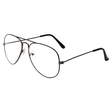 dbbe36ba1b Zyaden Black Aviator Unisex Eyewear Frame 323  Amazon.in  Clothing    Accessories