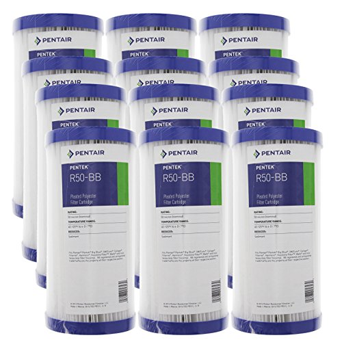 Pentek R50-BB 50 Micron 10 x 4.5 Whole House Pleated Sediment Filter 12 Pack