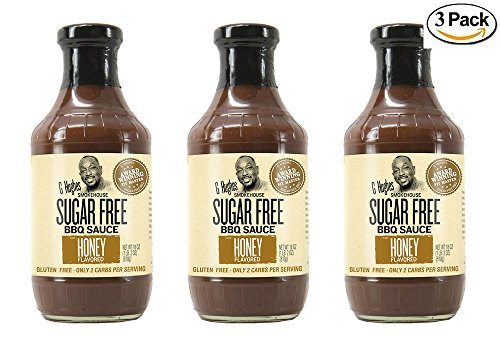 G Hughes Sugar Free Honey BBQ Sauce 18 oz (3 Pack)