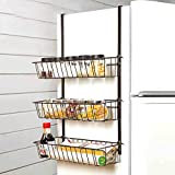 Kitchen Storage Rack Refrigerator Side Storage Rack for Kitchen Storage Wrap Rack Organizer Kitchen Dressers & Sideboards