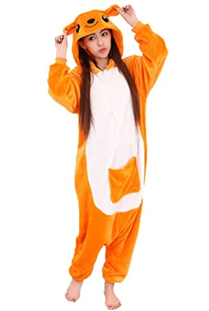 Cliont Animal Kangaroo Pyjamas Kigurumi Sleepwear Nightclothes Costume Anime Cosplay Christmas Onesie