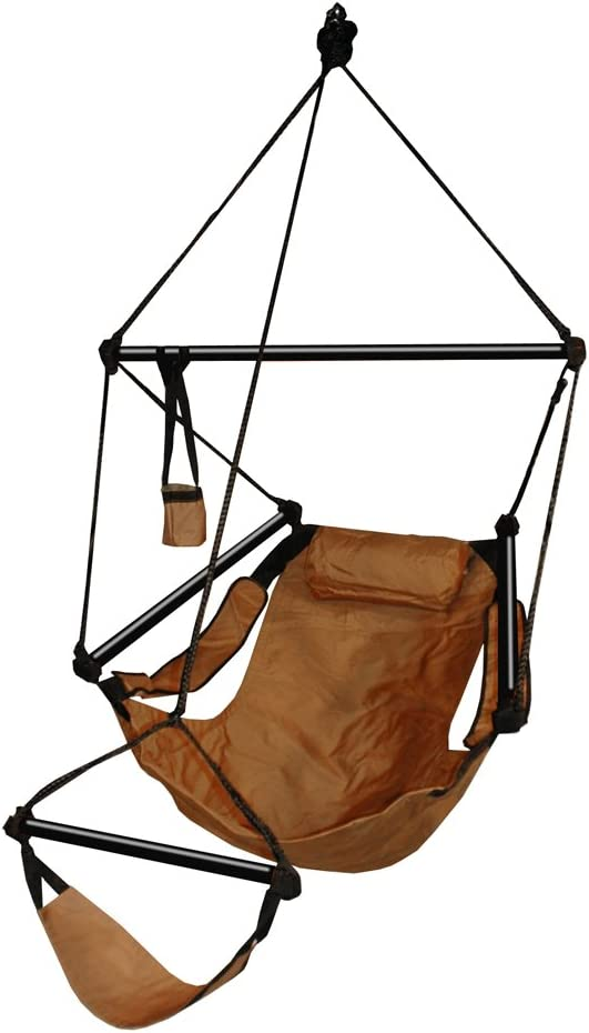 Hammaka Hanging Hammock Air Chair, Aluminum Dowels, Tan