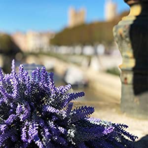 DuHouse Artificial Lavender Flowers Fake Real Touch Plant Bouquet for Wedding Party Banquets Garden Decoration(Purple) 2