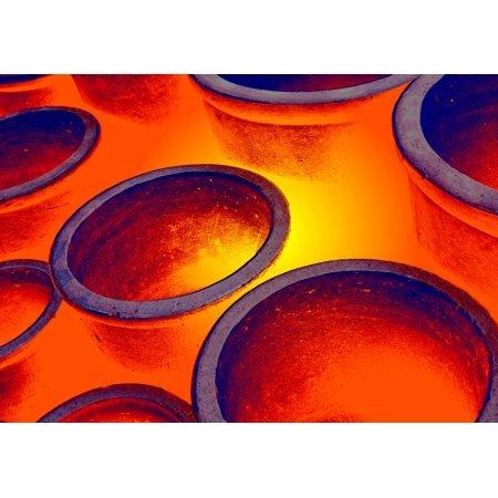 (Illuminated Round Bowls Close Up Canvas Art - John Short Design Pics (17 x)