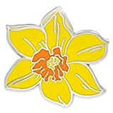 PinMart Yellow Daffodil Flower Boutonniere Trendy Enamel Lapel Pin