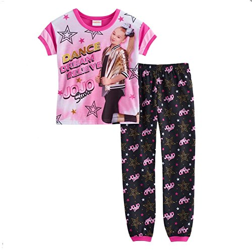 Girls JoJo Siwa Dance Dream Top & Bottoms Pajama Set (12) by Nickelodeon Jojo Siwa