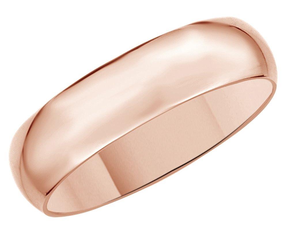 Solid 14K Gold 5mm Comfort Fit Men & Women Wedding Band Ring Jewel Zone US CMB7645MM14K