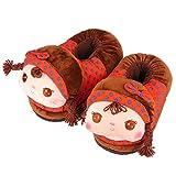 Belle Automne m¨¦nages Doll Pantoufles Chaussures (Brown)
