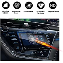 RUIYA 2018 Toyota Camry In-Dash Screen Protector, HD Clear Tempered Glass Car Navigation Screen Protective Film,AXVH70 AXVH70N Compatible with XLE XSE (8-Inch)