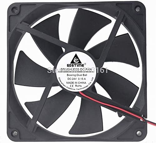 10Pcs//Lot Gdstime 140MM DC 24V 2Pin Ball Bearing 140x140x25mm 14cm PC Computer Case Cooling Fan