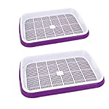 sprouter tray - Seed Sprouter Tray, Fenglintech 2Pcs Seed Sprouter Tray Hydroponics Basket Seeding Germination Tray - (Purple)