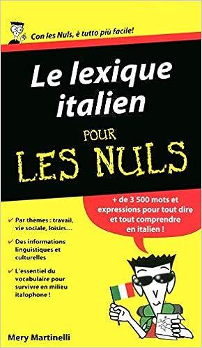 Amazon Fr Le Lexique Italien Pour Les Nuls Mery