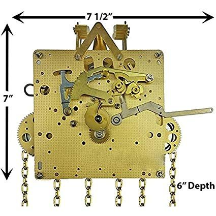 Qwirly Store: Grandfather Clock Movement by HERMLE 451-053 DBL with 75, 85, and 94 cm Gearing (85 cm) -  Hermle 451-053 DBL-85