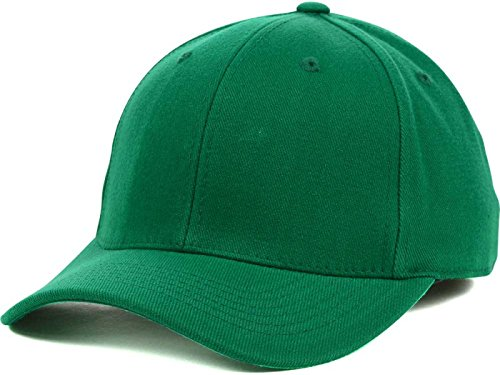 - Top Of The World By Lids HOME RUN One-Fit Stretch Fitted Blank Baseball Hat Cap (Large/X-Large, Kelly Green)