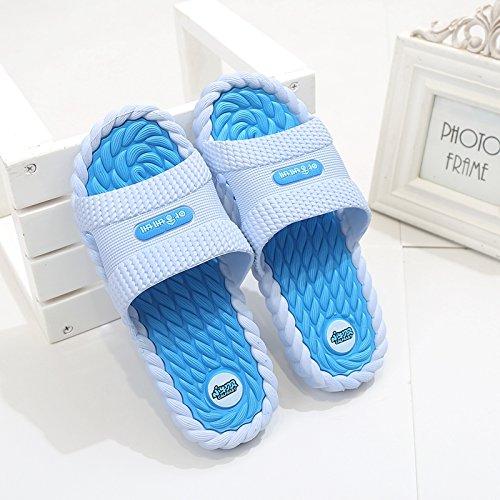 Anti Base Male Home Slippers Sky Bathroom fankou Slip 39 Soft Interior Slippers Home Cool Blue Summer Bath Massage Men zFHwxqP