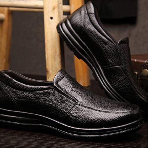 Uomo Calzature Black in Spessore di Pelle Maschili 01 Antiscivolo Suola Scarpe Mocassini ZtdxqwZ