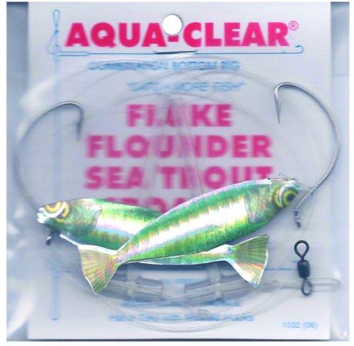 Aqua Clear FW-2AHG Hi/Lo, Fluke/Flounder/Trout/Croaker, Green Minnow