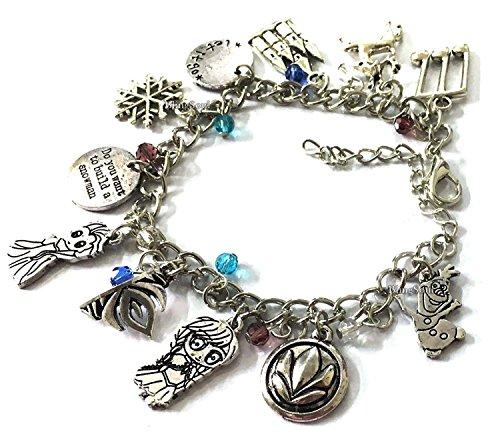 Anna Elsa Charm Bracelet - Frozen Anna Jewelry Gift Merchandise for Girls ()