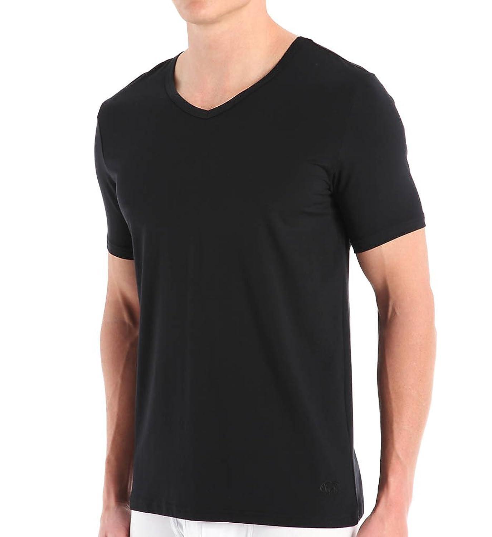 Buffalo David Bitton Men's Microfiber Stretch V-Neck T-Shirt