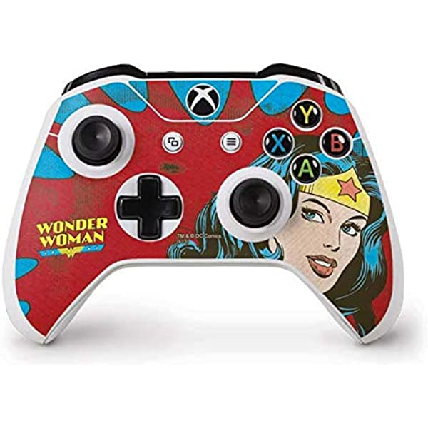 Amazon Com Skinit Decal Gaming Skin For Xbox One S Controller Officially Licensed Warner Bros Wonder Woman Vintage Profile Design Electronics