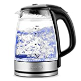 Best cordless electric kettle - BREVO Double Wall Cordless Electric Glass Kettle Review