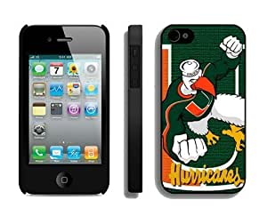 Cool Iphone 4s Case Ncaa Miami (Fl) Hurricanes 04 Personalized Iphone 4 Protective Cover