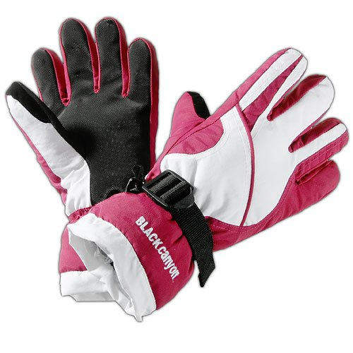 Black Canyon Kinder Skihandschuhe, pink/weiss, L, BC12806;a