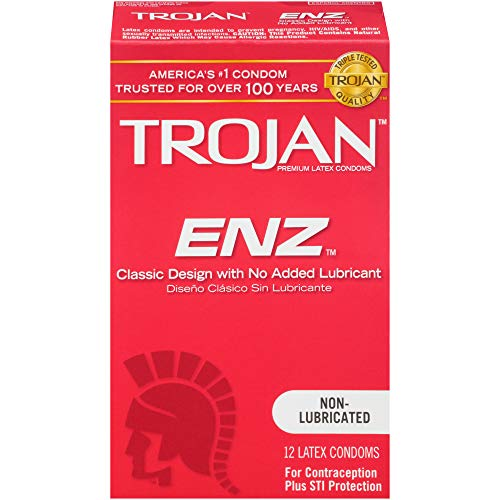 Trojan Magnum Lubricated Latex Condoms - Trojan ENZ Non-Lubricated Condoms, 12ct