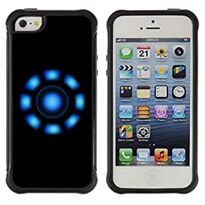 """Hypernova Defender Series TPU protection Cas Case Coque pour Apple iPhone SE / iPhone 5 / iPhone 5S [Luces azules""""]"""