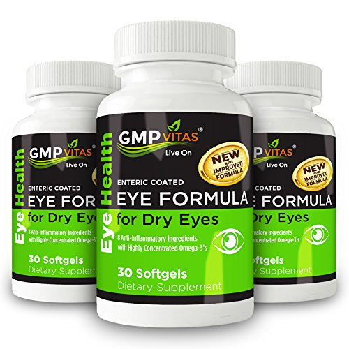 GMPVitas Enteric Coated Eye Formula- High Potency Omega-3 Supplement with Lutein, Astaxanthin Hyaluronic Acid, Vitamin C and E (3) by GMP Vitas (Image #5)