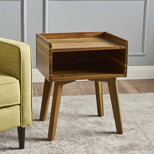 Alanna Natural Stained Acacia Wood Nightstand by GDF Studio (Image #1)