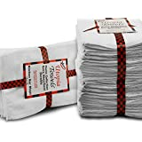 Restaurant-Kitchen-Hotel Bar Mop Cleaning Towels - (24-Pack,White) - Cotton, 16 x 19 inches - Professional Grade for Home Kitchen or Restaurant Use - By Utopia Towels
