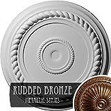 Ekena Millwork CM18ALRZS Alexandria Rope Ceiling Medallion, 19 5/8'' OD x 1 1/2'' P, Rubbed Bronze