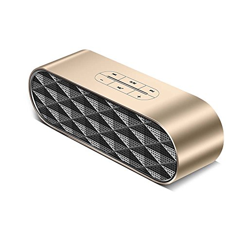 Kookoosmart Portable Wireless Bluetooth Speaker, Built in Double Speaker and Heavy Bass Chip - Perfect Sound Quality - Outdoor Travel Hi-Fi Speaker for Computer, TF, iPhone, Samsung (Gold)