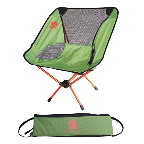 Bosuns Chair - BOS Portable Folding Camping Chair with Carry Bag, Compact & Ultralight Lightweight Backpack Chairs for Outdoor Camp,Travel Hiking Picnic Beach Camp Backpacking Outdoor Festivals -Grass Green