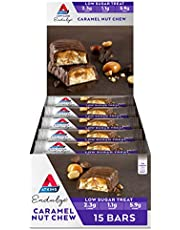 Atkins Endulge Caramel Nut Chew Bars | Keto Friendly Bars | 15 x 34g Low Carb Caramel Chocolate Bars | Low Carb, Low Sugar, High Fibre | 15 Bar Pack
