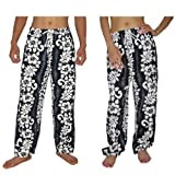 Unisex Beach & Swim Surf Mens / Womens Casual Lounging Pants From Thailand - Blue & White - Size: M-L