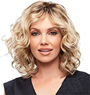 Short Blonde Wigs for White Women Curly Wavy Synthetic Female Hair Wig Full Wigs Gradient Fluffy Cosplay Wigs