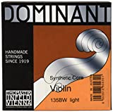 Thomastik-Infeld 135BW Dominant Violin Strings, Complete Set, Weich (Light), 135B, 4/4 Size With Chrome Steel Ball End E String
