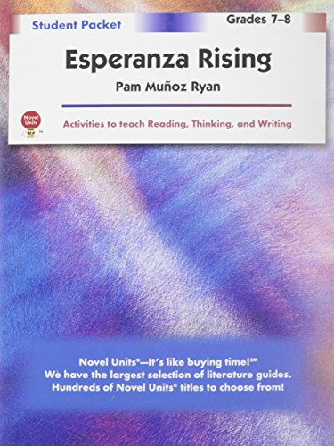 Esperanza Rising - Student Packet by Novel Units, Inc.