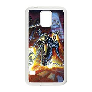 QSWHXN Ghost Rider Phone Case For Samsung Galaxy S5 i9600 [Pattern-1]
