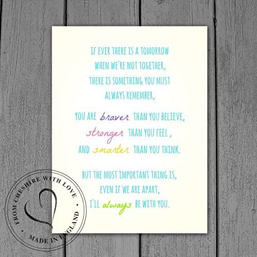 Winnie The Pooh Quote If Ever There Is A Tomorrow: Amazon.com: Winnie The Pooh Quote PRINT