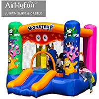 AirMyFun Inflatable Monster Theme Bounce House