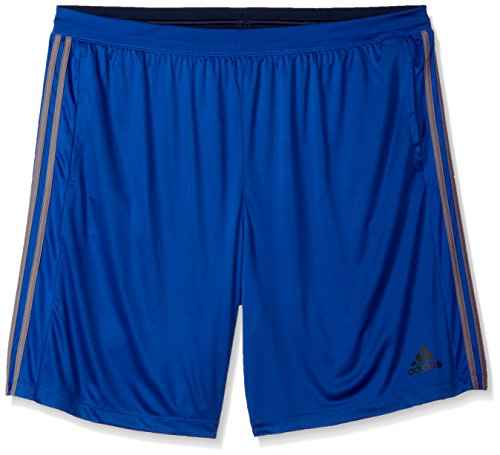 adidas Men's Performance Franchise 3 Stripe Shorts, Collegiate Royal/Trace Grey, 5X-Large