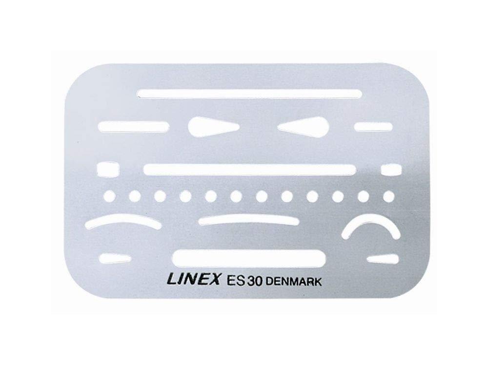 Linex 100411019 25er Pack Radierschablone Radierschablone Radierschablone ES 30 aus Feinstem Rostfreien Stahl mit 26 Öffungen für genaues Korrigieren B07JCTXBXY   Marke  2d6b74