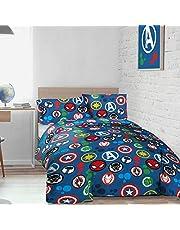 Marvel Avengers Teddy Fleece Double Duvet Cover & Pillowcases Bedding Set Super Soft & Warm Childrens