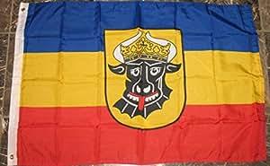 Mecklenburg Ochsenkopf bandera de Alemania 2'x3' Rough Tex de punto Banner