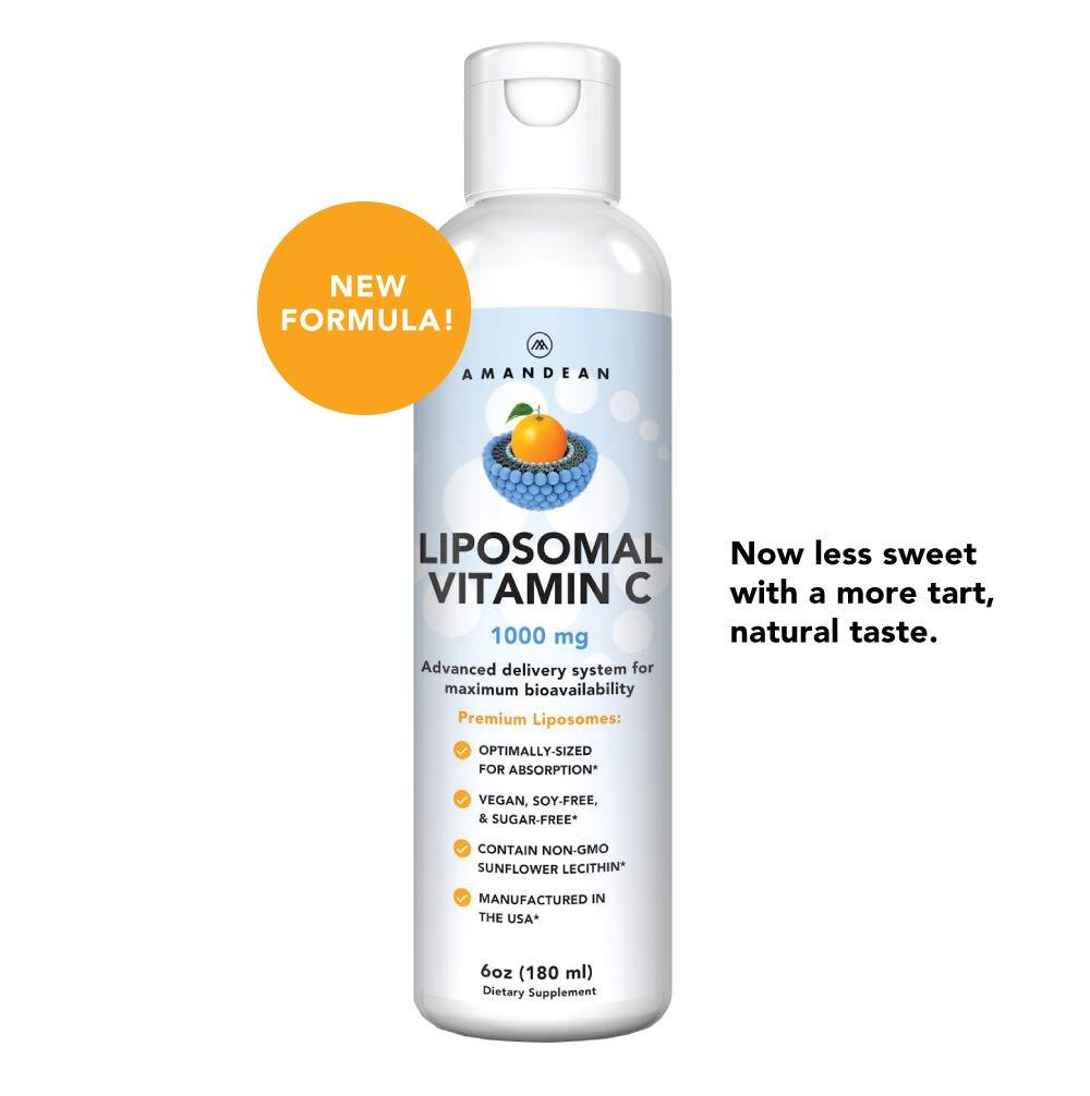 Liposomal Vitamin C Supplement 1000mg - Liquid Antioxidant Delivery for Maximum Bioavailability. Boosts Immunity, Promotes Skin Health & Collagen Production. Soy Free Formula. Non-GMO. 36 Servings.