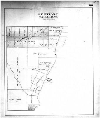 Section 7 Township 24 N Range 2 E, Kitsap County 1909, Washington... Fine-Art Reproduction