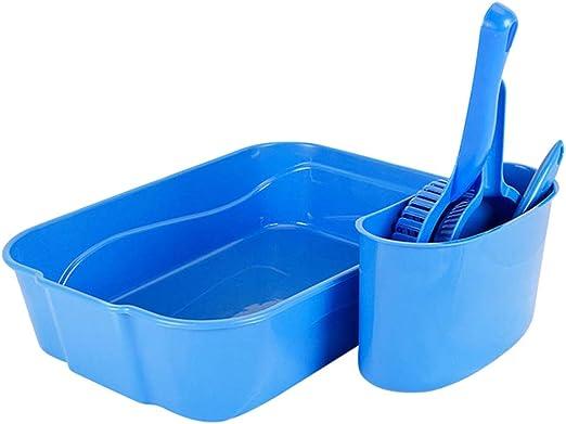 Balacoo Arena para Gatos Herramienta de Limpieza Establecido para Gatos Caja de Arena para Gatos cucharadas Base del Cepillo (Azul): Amazon.es: Productos para mascotas